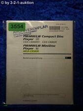 Sony Bedienungsanleitung CDX C8000RX /C8000R / MDX C8500R (#3554)