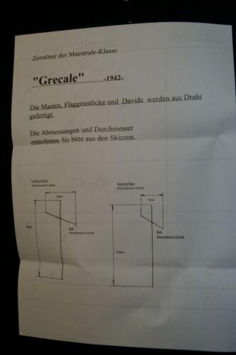 """als Bausatz 1:700 Resin 1942 HP Models  Italienischer Zerstörer  /""""Grecale/"""""""