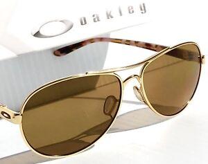 0abfa0a0840 NEW  Oakley TIE BREAKER GOLD POLARIZED Aviator Womens Sunglass 4108 ...