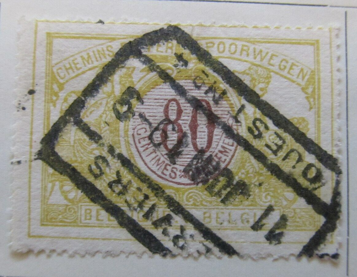A6P16F31 Belgium Parcel Post and Railway Stamp 1902-06 80c used