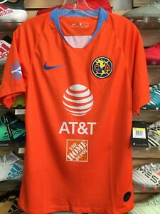 best website 16695 a6d1c Details about Nike Club America Third Jersey 2019 Orange Sky Size Medium  Only