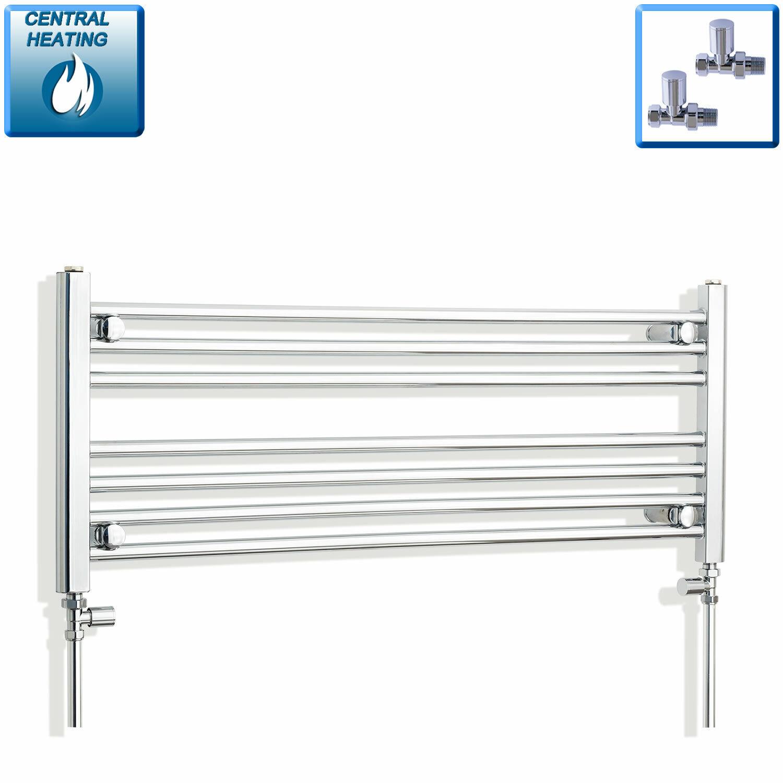 400 mm High 950 mm grand Straight Chrome Heated Towel Rail Radiator Bathroom Flat