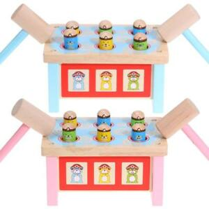 Wooden-Whack-a-mole-Hamster-Game-Children-039-s-Knocking-Toy-Kids-Educational-Toys