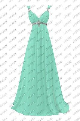 Long Chiffon Evening Gown Bridesmaid Dresses Prom Formal Party Ball Gowns 6-22