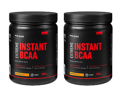 (44,90 Euro/kg) Doppelpack Body Attack - Extreme Instant Bcaa Pulver - 2 X 500g