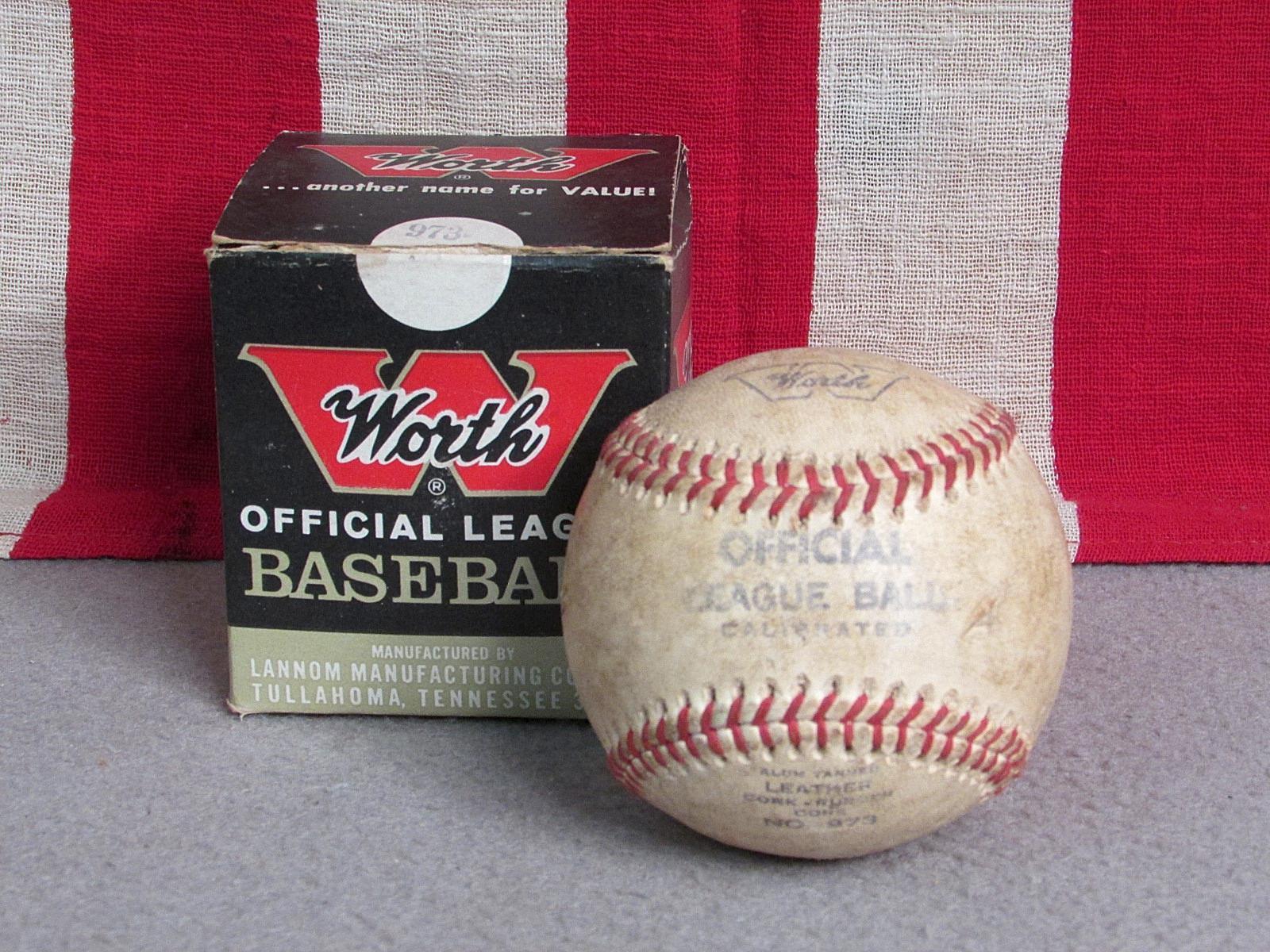 Vintage Worth Oficial Liga Cuero Béisbol No.973 con     Caja Original Calibrado  bajo precio del 40%
