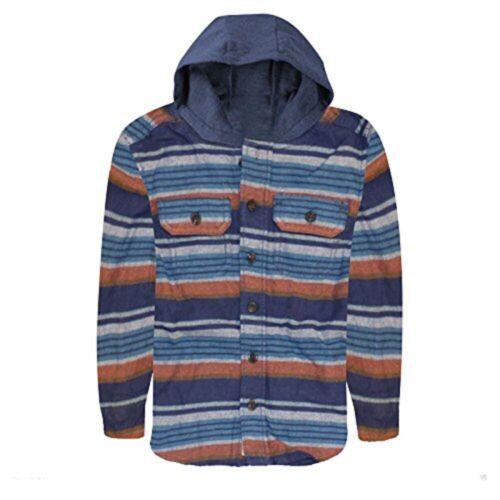 Chicos Osh-kosh rayas manga larga de algodón con capucha de múltiples Lumberjack de Superdry con capucha