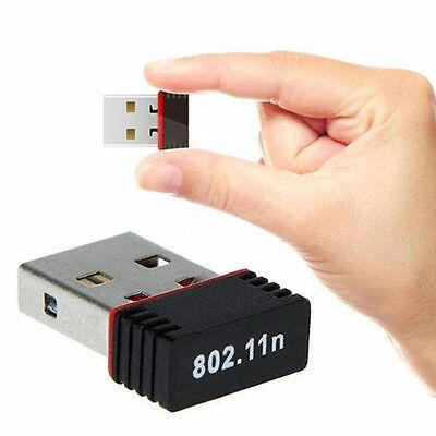 Mini USB 2.0 WiFi Wireless Adapter Network 150Mbps Windows MAC Linux 802.11n