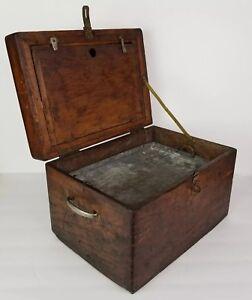 Primitive-Wooden-Box-Wood-Art-Work-Box-Joint-Rustic-Vintage-Antique