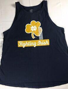 Notre-Dame-Tank-Top-Womens-L-XL-2XL-Fighting-Irish-Shirt-Student-Alumni-Gym-NEW
