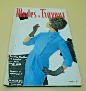 Magazine Modes & Travaux  Janvier  1961