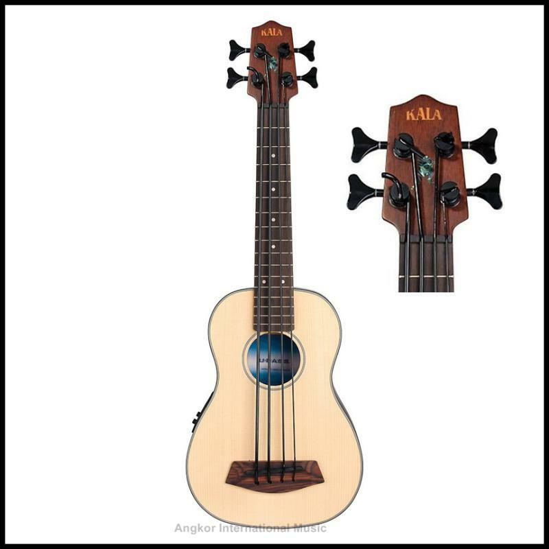 Kala U-Bass  Spruce Top Acoustic   Electric Bass Ukulele   Guitar UBASS-SSMHG FS