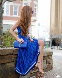 New-Banana-republic-XS-2-4-Blue-Pleated-maxi-dress-pailey-Sleeveless