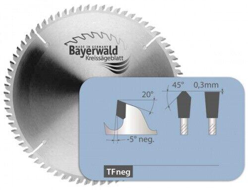 HM Kreissägeblatt - Ø 225 mm x 2,6 mm x 30 mm   Z=68 TF negativ