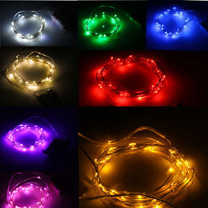Battery Powered 3m 10ft 30 LEDS Silver Wire LED Starry ...
