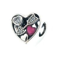 Authentic Pandora Struck By Love, Magenta Enamel & Clear Cz 792039cz on sale