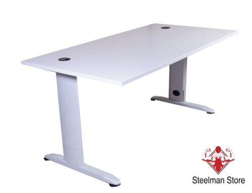 160x80 cm Bürotisch Homeoffice C-Fuß Gestell Schreibtisch höhenverstellbar