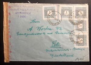 1943-Srebrenica-Croatia-Germany-State-Censored-Cover-To-Celje-Slovakia
