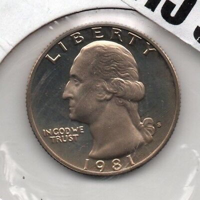 1981 P D /& S Washington Quarter Set PD Mint Cello // S Proof 3 coins 4478