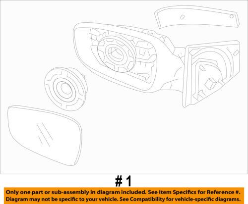 HYUNDAI OEM 2014 Elantra GT Door Side Rear View-Mirror Assy Right 87620A5380