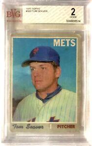 1970-Topps-300-Tom-Seaver-3rd-Yr-Beckett-BVG-2-Good-Condition-NY-Mets-HOF