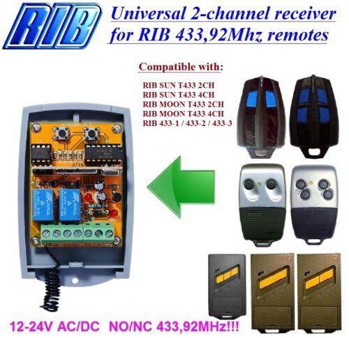 MOON T433 2CH,4CH remotes RIB compatible 2-ch receiver for RIB SUN T433 2CH,4CH