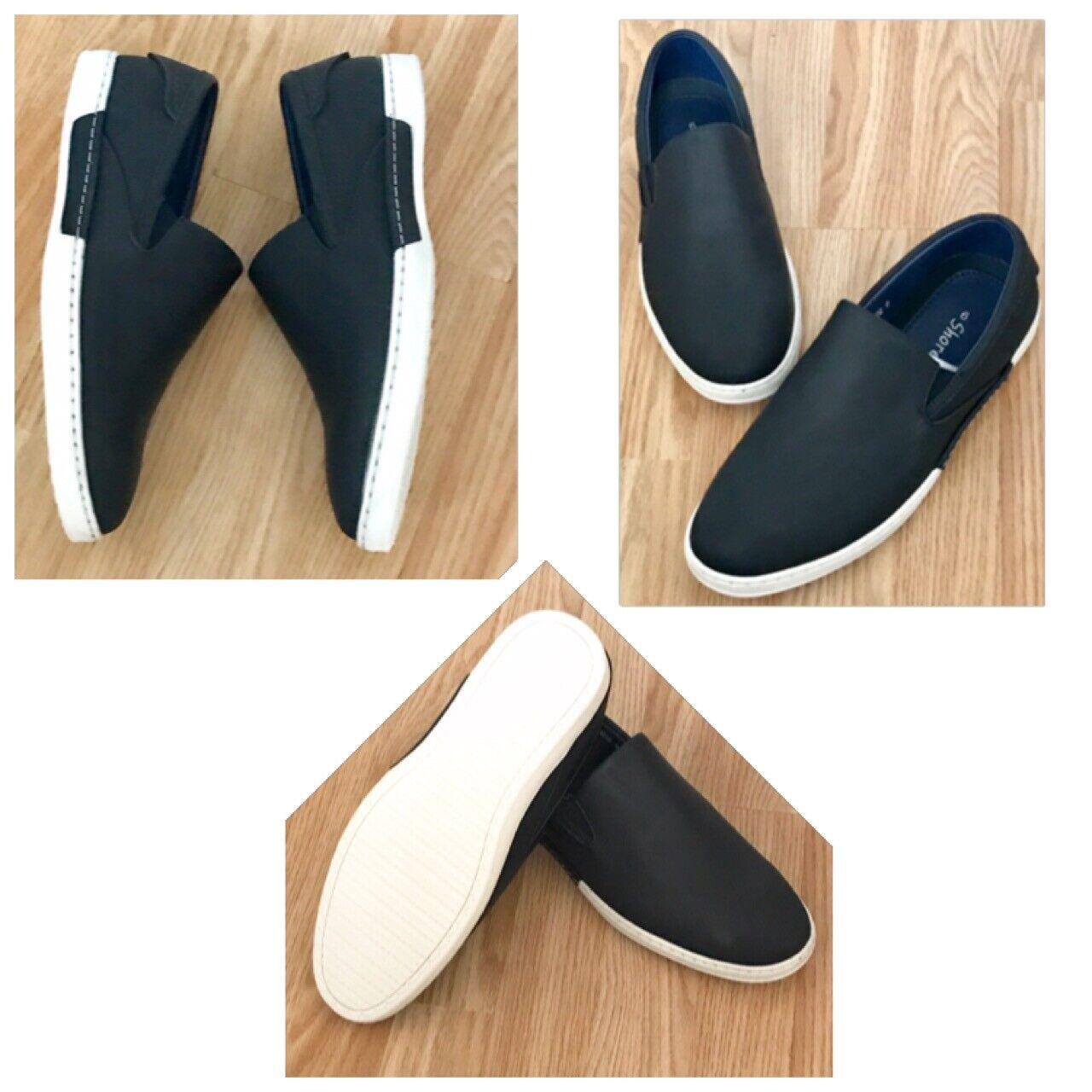 Men Vegan Navy Microfibre Orthopedic Diabetic Comfort Wide Trainer Shoe Size