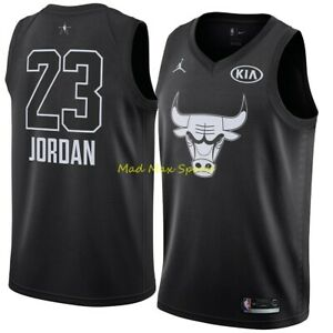 MICHAEL JORDAN Chicago BULLS Black 2018 Kia ALL STAR GAME Swingman Jersey S-2XL