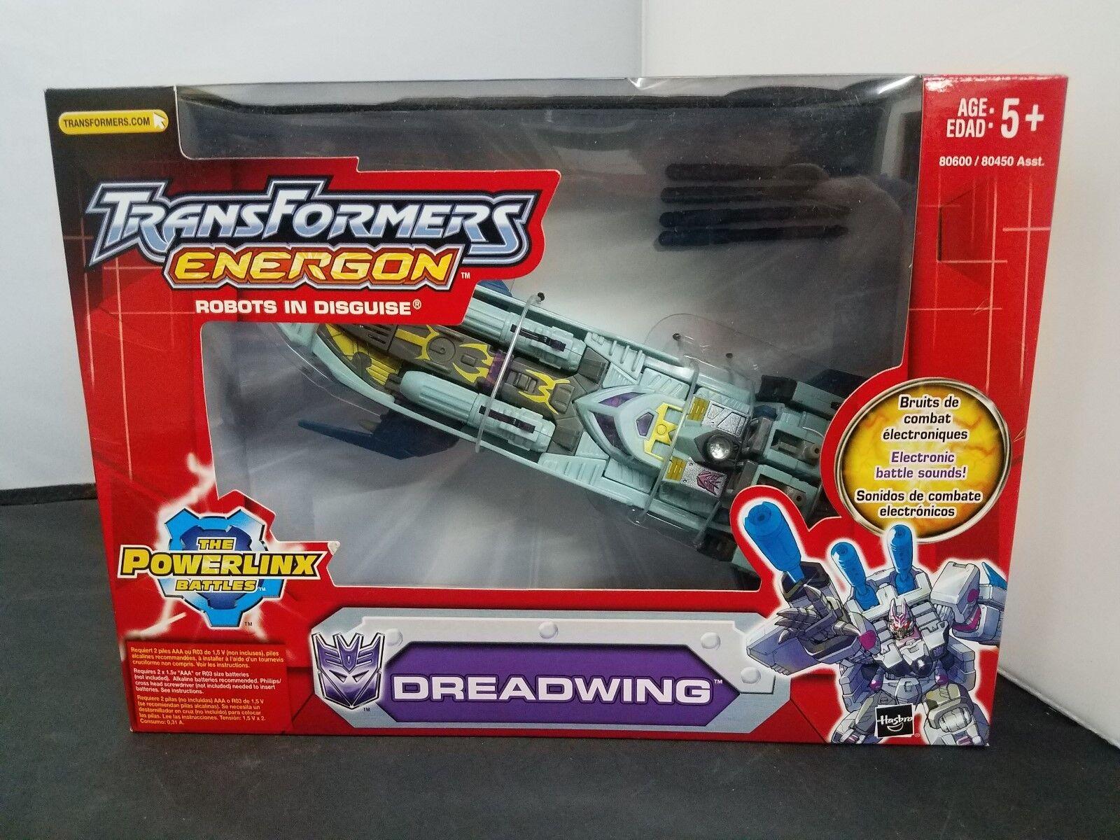 Hasbro Transformers Energon DREADWING Decepticon POWERLINX Gun Boat Action...NEW