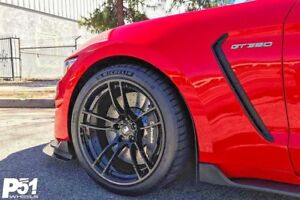 19 p51 flowforged wheels rims for ford mustang shelby gt350r 2015 present ebay. Black Bedroom Furniture Sets. Home Design Ideas