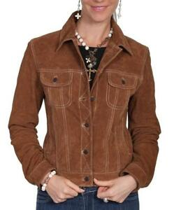 Leather Outwear Casual Wear Suede Western Ladies Fashion Jacket Womens Coat Real RIwTBz