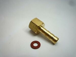 "VACUUM GAUGE HOSE CONNECTOR / ADAPTOR smiths 52mm 2"" 2 inch"