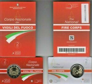 Italia-Italien-Italy-2-Vigili-del-Fuoco-Feuerwehr-Firebrigade-coincard-2020
