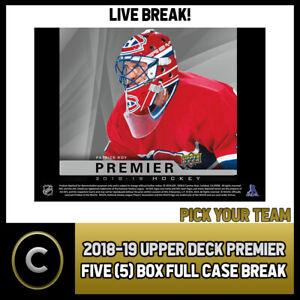 2018-19-UPPER-DECK-PREMIER-HOCKEY-5-BOX-FULL-CASE-BREAK-H486-PICK-YOUR-TEAM
