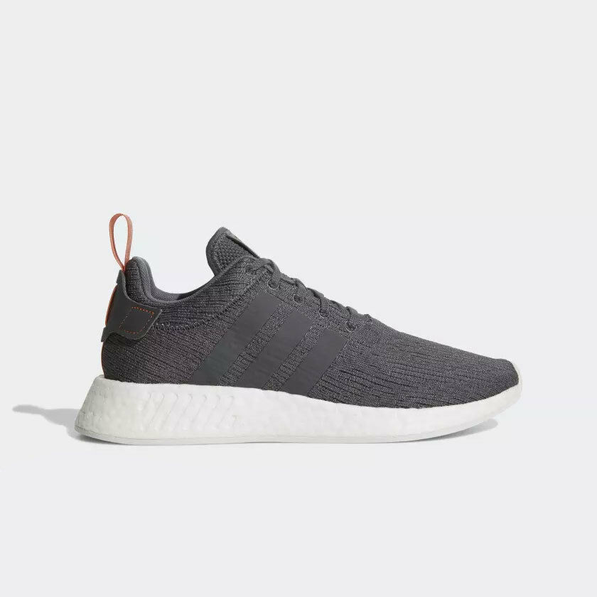 Adidas Men's ORIGINALS NMD_R2 NEW AUTHENTIC Grey/Grey-Future Harvest BY3014