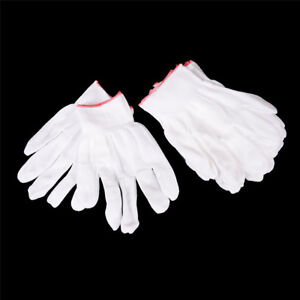 5 Pairs General Purpose White Cotton Lining Gloves Health Work VP PR 747710580582