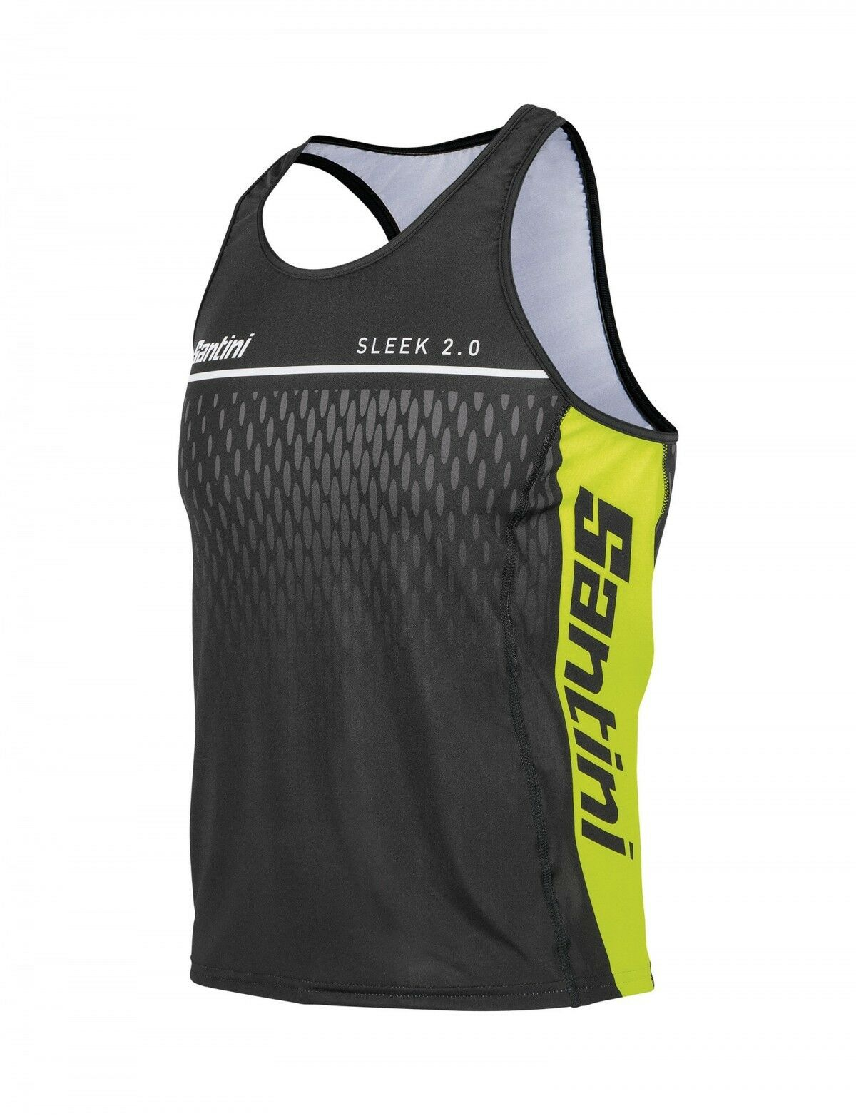 Men's Sleek Aero Tri Top - in Yellow -   made in  by Santini  free delivery and returns