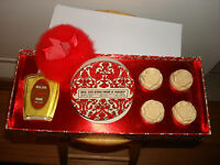 Vintage Hazel Bishop Set Royal Satin Angelique Cologne Dusting Powder 4 Soaps