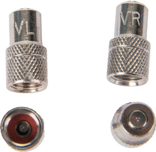 HP Ventil Staubkappen Set integriertes Einlassventil mit Reifenmakierung 18313 !