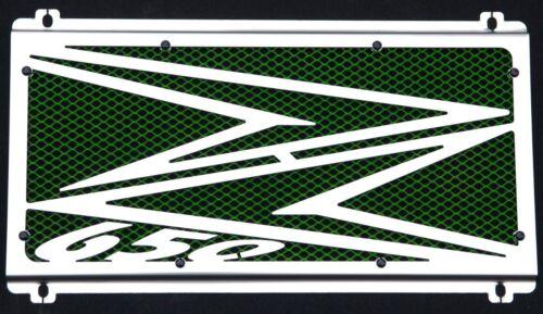 cache / Grille de radiateur inox Kawasaki Z650 201718 Logo + grillage vert