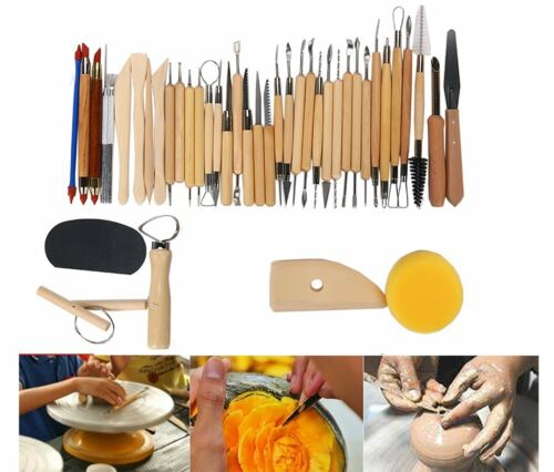 Professional Pottery /& Clay Sculpting Tools Shaping US Set of 42 for Blending