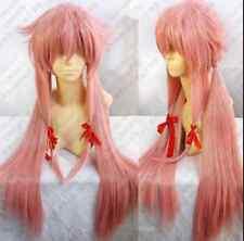 Future Diary Mirai Nikki Gasai Yuno Cosplay Wig Pink color fb5