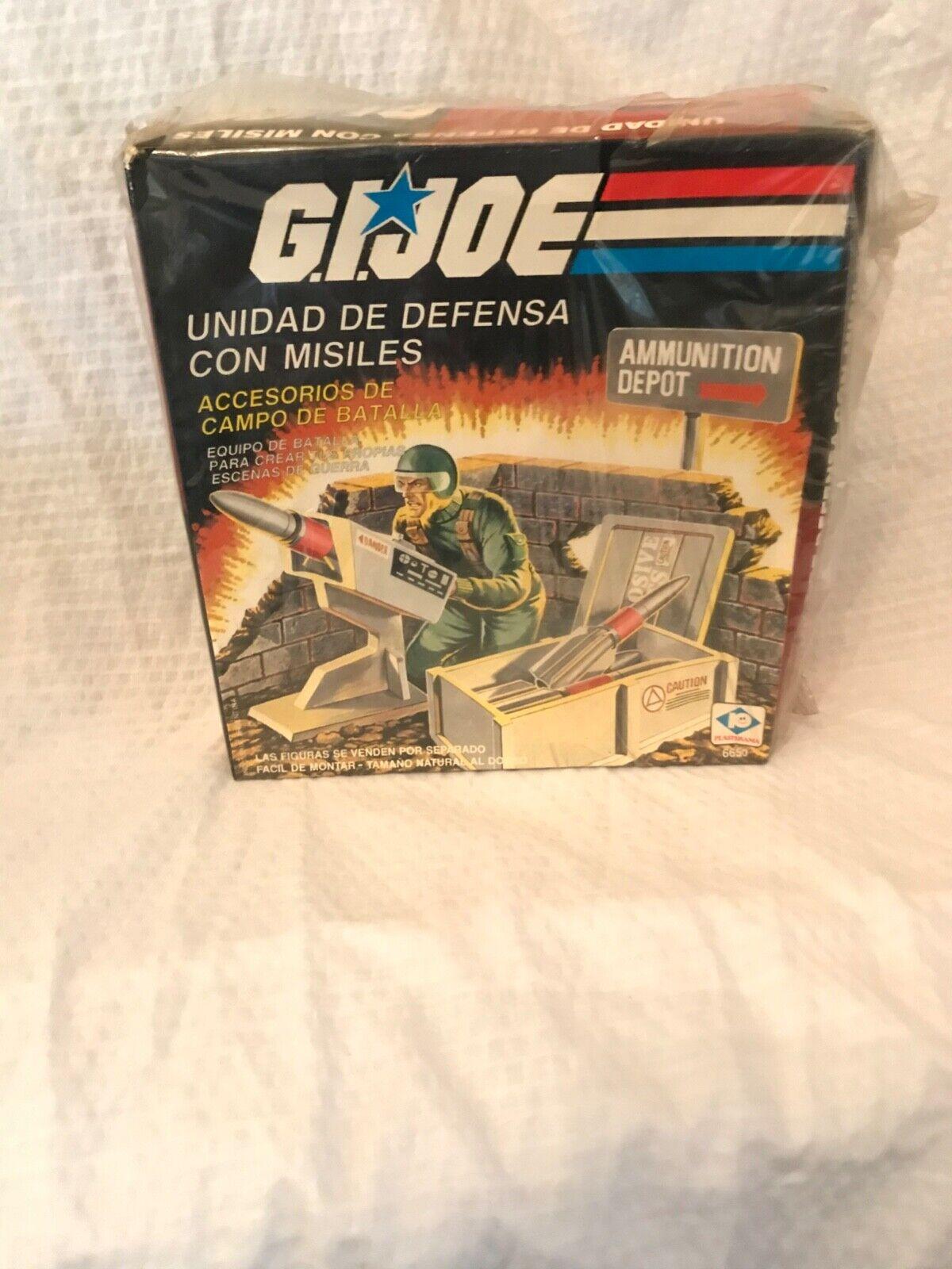 Original Gi joe Ammunition Depot MISB Silberina Plastirama 1983 84