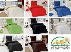 2 4 teilig renforc einfarbig uni bettw sche 135x200 80x80 cm 100 baumwolle ebay. Black Bedroom Furniture Sets. Home Design Ideas