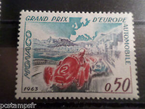 Simple Monaco 1963, Timbre 609, Sport, Grand Prix Automobile Mc, Neuf**, Mnh, Cars