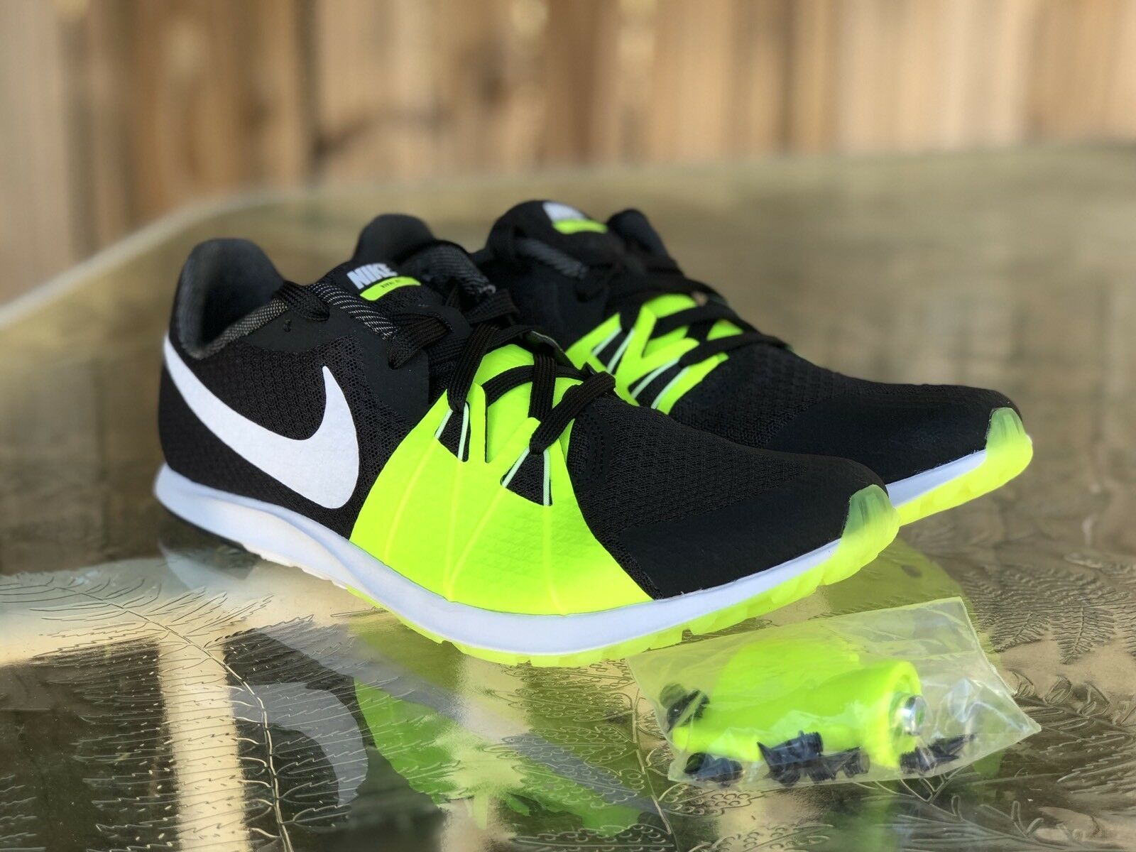 Nike Zoom Rival XC Mens Racing Track Shoe Black/Volt/White  904718-017 Comfortable