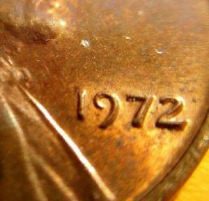 1972 LINCOIN MEMORIAL CENT - DOUBLED DIE - AU CIRCULATED