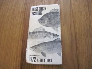 Details about VTG 1972 WISCONSIN FISHING REGULATIONS BOOKLET PAMPHLET LAWS  SUMMARY OLD