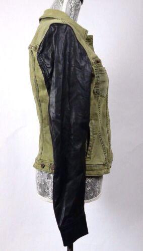 giacca di di pecora nera Buffalo David Jean Green in di Cappotto da moto pelle Zp1ffq5Hw