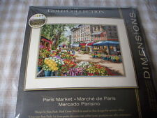 Counted cross stitch kit, Paris Market, flowers, Dimensions Gold, #35256